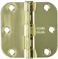 """Stanley National Hardware V8032 3"""" Door Hinge in Polished Brass"""