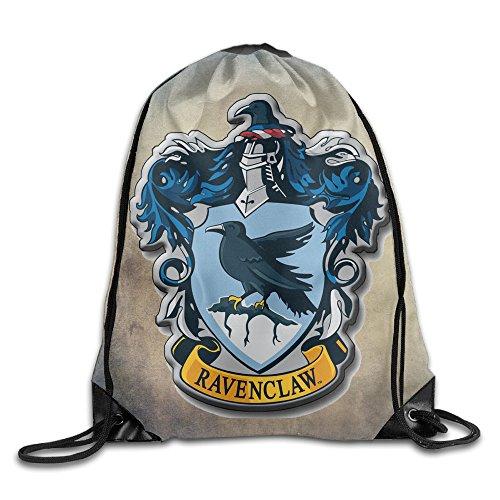 Harry Potter Ravenclaw Sack Bag Drawstring Backpack Sport Bag by FFVS Bags