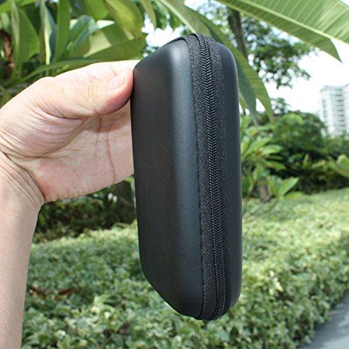 niceEshop(TM) Mini Bolsa de Almacenamiento Auriculares Forma de Cuadrado Funda para Teléfono Auriculares USB Cable,Rosa 2.5Pulgadas,Negro