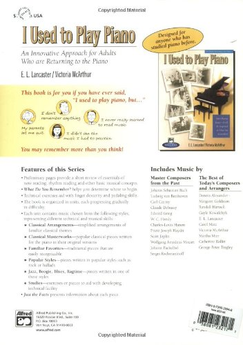 I Used To Play Piano Refresher Course An Innovative Approach For