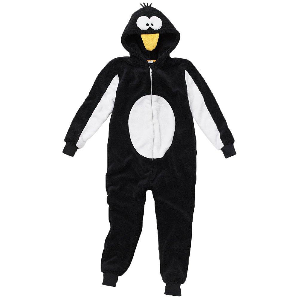 Animal Crazy Childs Boys Girls Supersoft Penguin Onesie Jumpsuit Playsuit