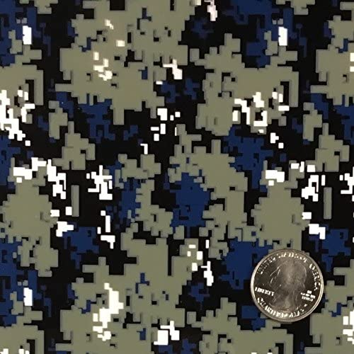 HYDROGRAPHIC WATER TRANSFER HYDRODIPPING HYDRO DIP BLUE DIGI CAMO CAMOUFLAGE 2M