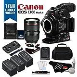 Canon EOS C100 Mark II Cinema Camera with Dual Pixel CMOS AF & EF 24-105mm f/4L IS II USM Zoom Lens Kit International Version (No Warranty)- Platinum Plus Level Bundle