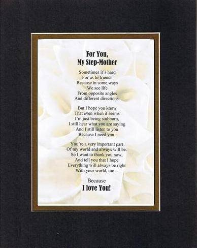 Amazoncom Touching And Heartfelt Poem For Mothers For My Step