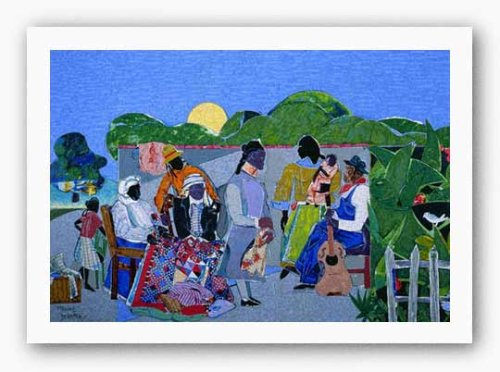 Quilting Time by Romare Bearden - 24 x 36 inches - Fine Art