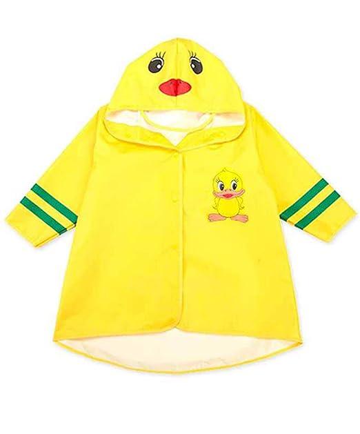 Amazon.com: Chubasquero para niños con capucha de botón ...