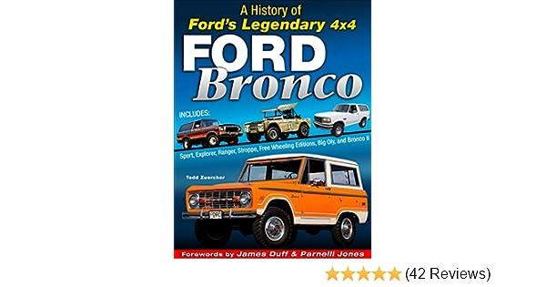 BRONCO FORD BOOK LEGENDARY 4X4 HISTORY ZUERCHER