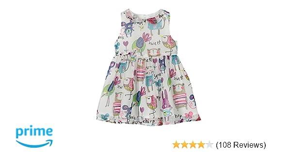 f79544cba Amazon.com  Weixinbuy Kids Girls Chiffon Birds Printed Sleeveless ...