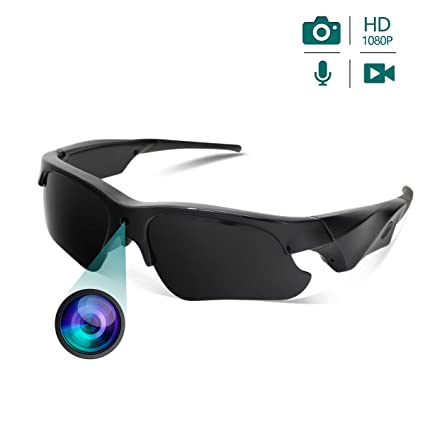 0b9a32fdbce Image Unavailable. Image not available for. Color  HSKAH Sunglasses Camera  Mini Video Recording Full HD 1080P Sport Camera with UV Protection Polarized  Lens