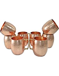 Figo Inc Handmade Pure Copper Hammered Moscow Mule Mug (8)