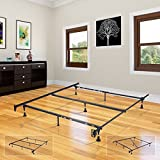 Heavy Duty Metal 7-Leg Adjustable Queen, Full, Full XL, Twin, Twin XL, Bed Frame With Center Support & Glides