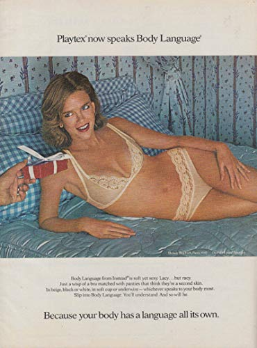 Because your body has a language all its own Playtex bra & panties ad 1980 -