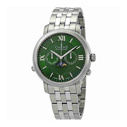 Charmex Salzburg Moonphase Green Dial Mens Watch 2973