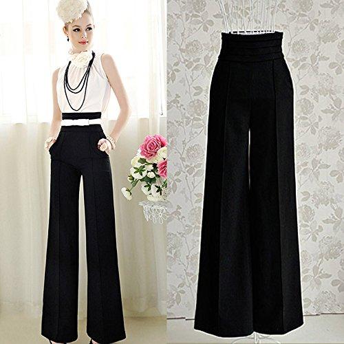 Femmes Casual Haute Chic Culater® Pantalon Large Taille évasé 65gaHxqw