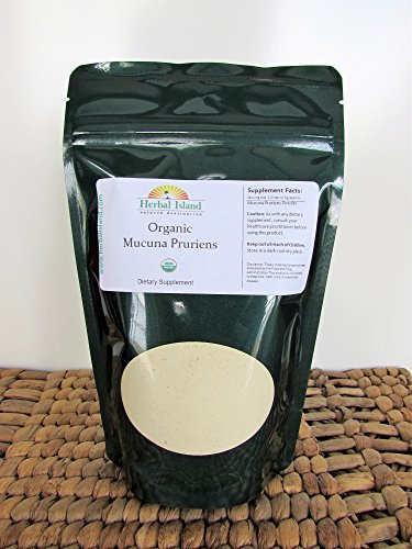 Mucuna Pruriens - Organic (1 Kg or 2.2 LB Bulk) Extract Powder 20% L-Dopa Velvet Bean with Free Shipping by Herbal Island