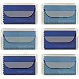 "MightyMicroCloth Premium Microfiber Cleaning Cloths - (6 pack) each in a Travel Pouch for Eyeglasses, Computer Screens, Glasses, Lens, iPads, iPhones, Cameras, LCD TV - 7"" x 6"" (3 Royal, 3 Sky Blue)"
