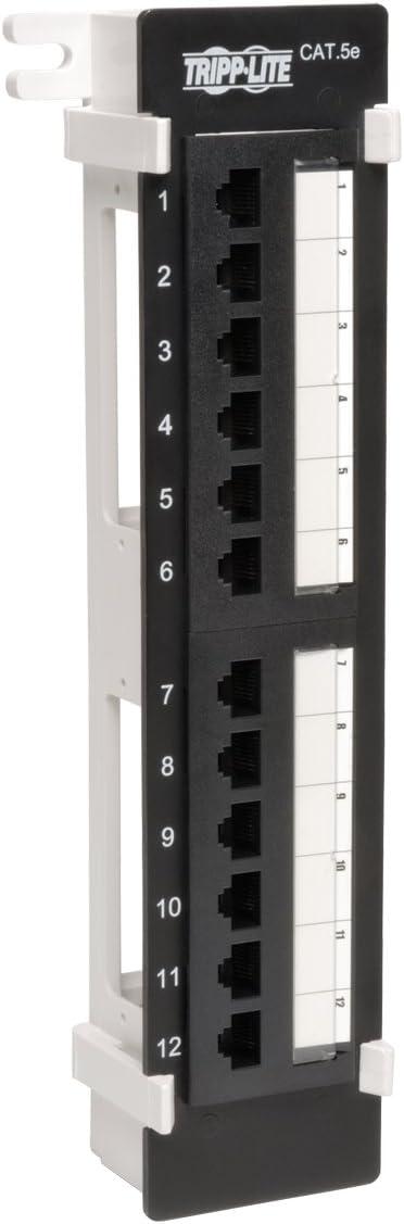 B000067SC6 Tripp Lite 12-Port Wallmount Cat5e Patch Panel 568B, RJ45 Ethernet(N050-012) 51v-mKjTsHL