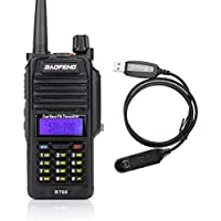 Baofeng R760 Waterproof IP57 136-174/ 400-520MHZ Dual Band Ham Two-way radio Walkie Talkie Transceiver with Programming Cable