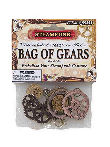 Forum Novelties Men's Steampunk Victorian Bag Of Gears Costume Accessory, Multi Colored, One Size]()