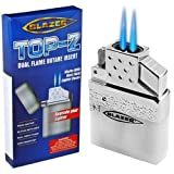 Blazer The Original Torch Butane Refillable Top Z Dual Flame Metallic Pack Of 12 2''