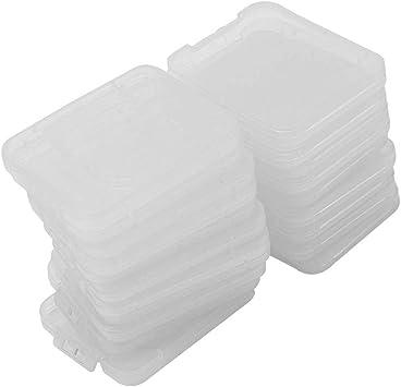 Pinzhi 20X Transparente Plástico Caja Estuche para Estándar SD SDHC Tarjeta de Memoria: Amazon.es: Electrónica
