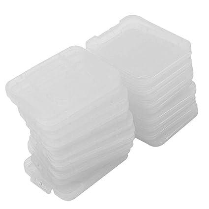 Pinzhi 20X Transparente Plástico Caja Estuche para Estándar SD SDHC Tarjeta de Memoria