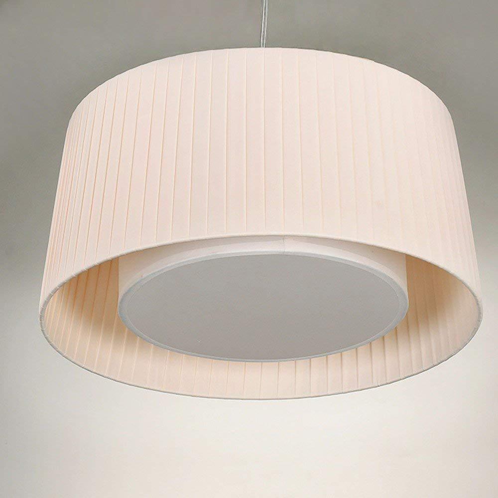 GUO Gzz Deng Home Outdoor Lighting Pendant Light Shade Industrial Hanging Ceiling Lamp Chandelier Fabrics White 50X22Cm Living Room Restaurant Bedroom Lighting