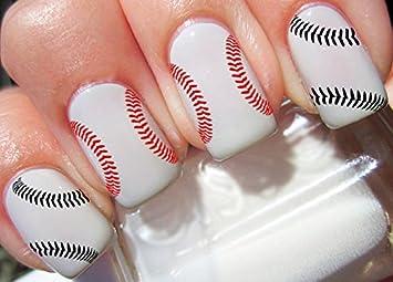 Amazon.com : Baseball Stitches Nail Decals Nail Art Designs Decals ...