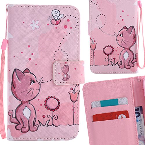 Yiizy Casemate S7 G930 Sheath Pussy Pink Wallet Design Flap Flip Cover Housing Case Premium Pu Leather Cover Shell Bumper Skin Slim Protective Shell Case Stand Card Slot