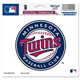 "MLB Minnesota Twins 14422010 Multi-Use Colored Decal, 5"" x 6"""
