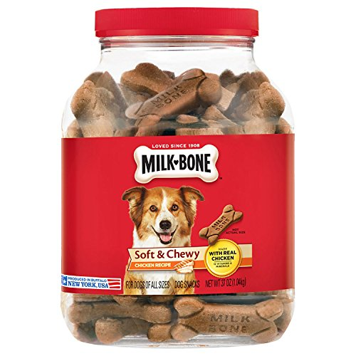 Flavored Chewy Dog Treats - Milk-Bone Soft and Chewy Chicken 12 Vitamins and Minerals Recipe Healthy and Delicious Dog Snacks - 37 ounces