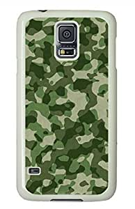 Army Green White Hard Case Cover Skin For Samsung Galaxy S5 I9600