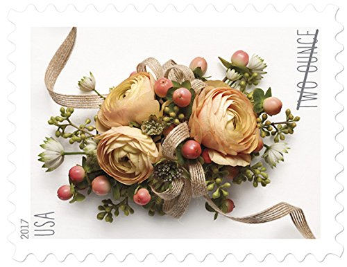 Kids Petal Cars (Celebration Corsage USPS Two-Ounce Forever Stamps Sheet of 20 - New Stamp Issued 2017)