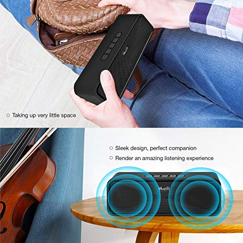 HolyHigh Muzili Wireless Bluetooth Speaker with 3.5 mm Aux TF Card Slot USB Port for Car Mobile Phone Laptop Computer TV Pen Drive