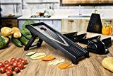 V-Blade Stainless Steel Mandoline Slicer, Peeler, Cutter and Julienne. Best For Slicing Food, Fruit and Vegetables. Includes 5 Interchangeable Blades and Blade Safety Sleeve