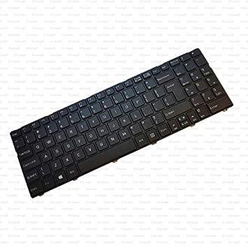 X-Comp - Teclado EN Negro para MSI CX640 CR640 A6400 CX640 CX640MX CX640DX MS-16Y1 Serie: Amazon.es: Informática