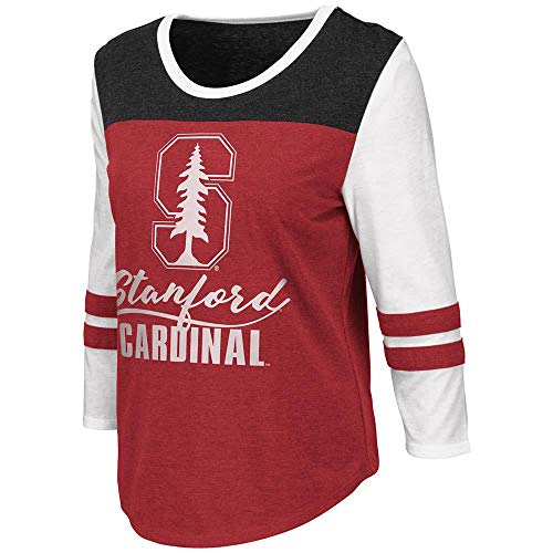Colosseum Womens Stanford Cardinal Palermo 3/4 Sleeve Tee Shirt - S
