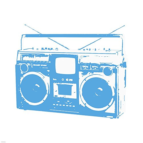 Blue Boom Box by Veruca Salt Art Print, 18 x 18 inches ()