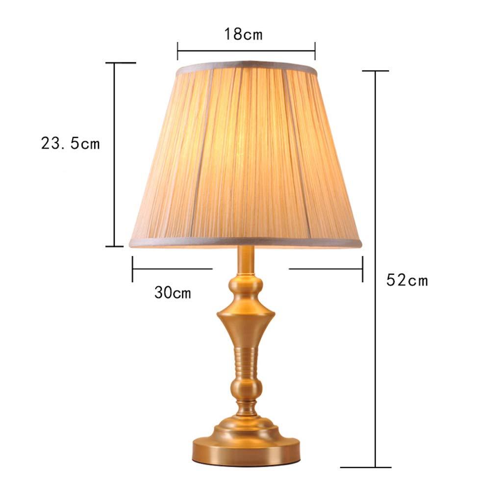 Cuivre Européenne Luxe Lampe Table Chevet De En qSzLUVGjMp