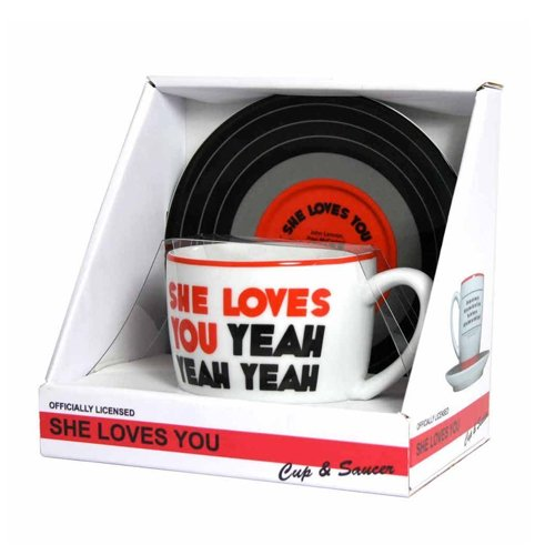 Lennon & McCartney Cup & Saucer, She Loves You