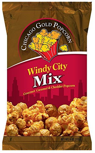 Chicago Gold Popcorn - Windy City Mix is a Chicago popcorn with a combination of cheese & caramel corn, 6 bags