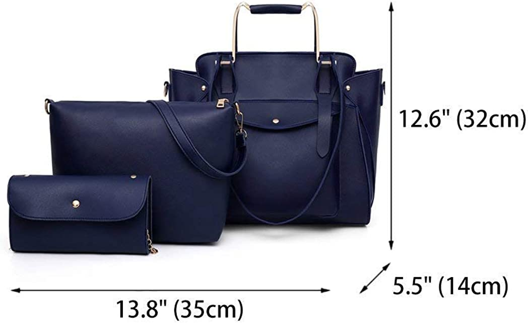 Zhao Liang Women Shoulder Bags Handbags Totes PU Leather Purses Satchels Top-Handle 3pcs Set