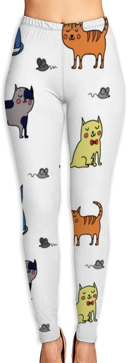 Leggins de entrenamiento para gatos de la UE, de talle alto, pantalones de yoga para mujer, Mujer, multicolor, large: Amazon.es: Deportes y aire libre
