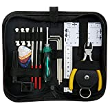 ammoon Guitar Repairing Maintenance Cleaning Tool Kit Includes String Organizer & String Action Ruler & Gauge Measuring Tool & Hex Wrench Set & Files for Guitar Ukulele Bass Mandolin Banjo