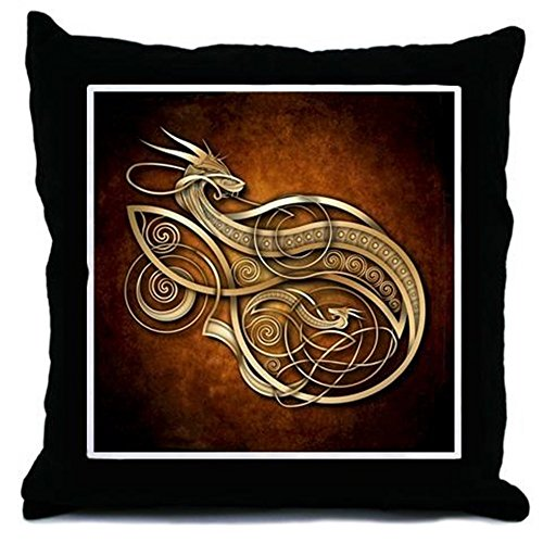 CafePress - Gold Norse Dragon -