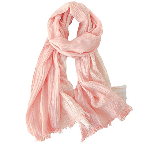 Kalevel Large Scarf Shawl Wrap lightweight Cotton Shawls and Wraps for Women (Orange)