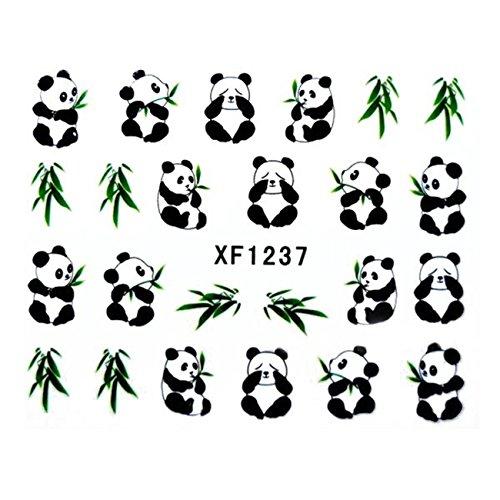 Panda Pattern Design Water Decals Transfers Nail Sticker-1 PC