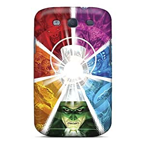 Shockproof Cell-phone Hard Covers For Samsung Galaxy S3 With Customized Nice Green Lantern Corps Skin CharlesPoirier