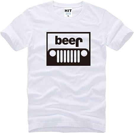 Oudan Camisa de algodón con Cuello Redondo y Camiseta Blanca de Manga Corta con Estampado de Camisetas de algodón para Hombres (Color : Blanco Negro, tamaño : L): Amazon.es: Hogar