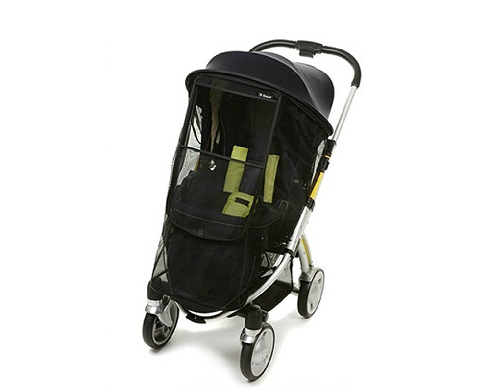 Manito Magic Shade (Sun Shade + Mosquito Net 2-in-1) for Strollers - Black/Black